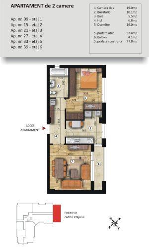 VSC Residence - Apartamente noi Pitesti - 0744 673 293 - Apartament 2 camere